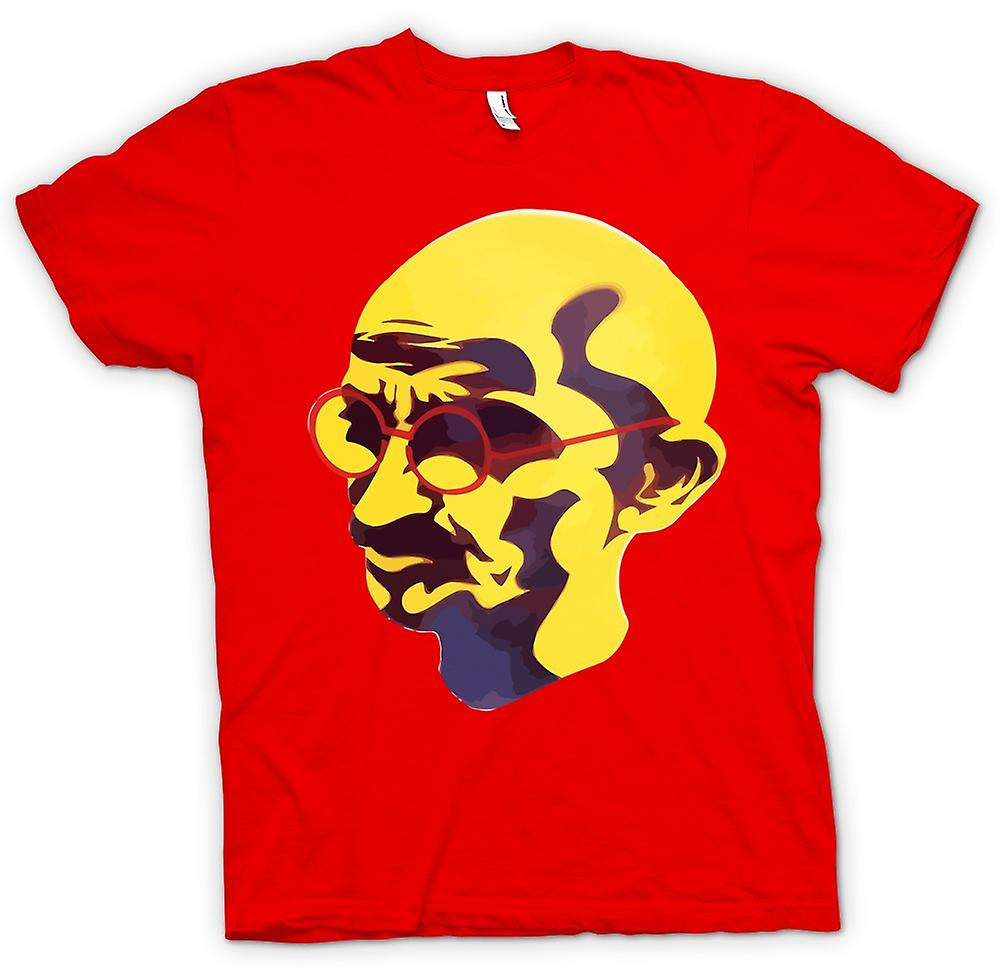 Heren T-shirt - Mahatma Gandhi - Indiase pictogram