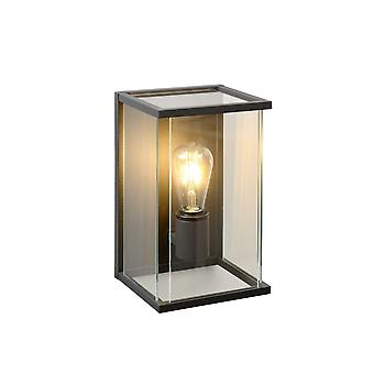 Lucide Claire Vintage Rectangle Glass Anthracite Wall Light
