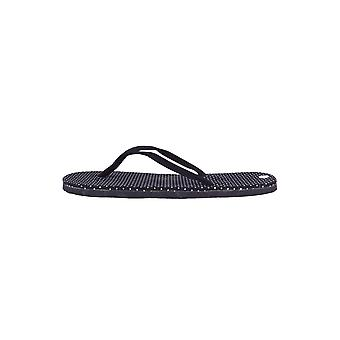 Lovemystyle Black Flip Flops With White Polka Dot Sole