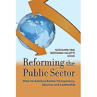 Hervorming van de publieke Sector: hoe te komen tot betere transparantie, Service, en leiderschap