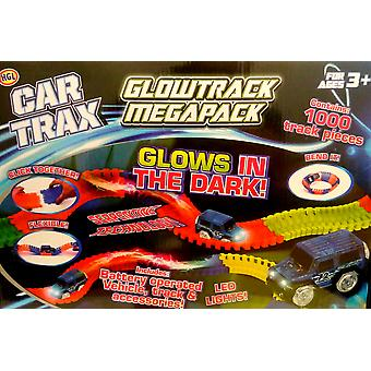 HGL auto Trax Glowtrack Megapack 1000 PCE Track instellen