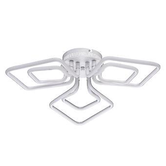 Glasberg - LED plafond semi-encastré lumière trois lumière finition blanche 496016803