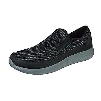 Mens Skechers Trainers Depth Charge Casual Slip on Shoes - Black