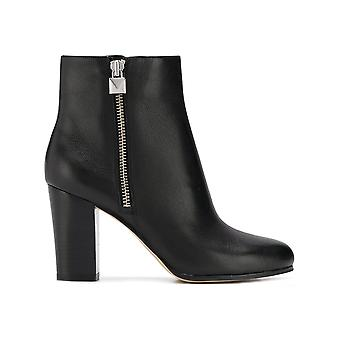 Michael Kors Margaret Black Leather Ankle Boots