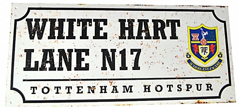 Tottenham Hotspur FC Spurs White Hart Lane retro look metal street sign (bb)