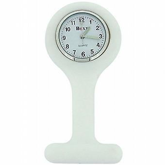 Boxx White Unisex Rubber Infection Control Nurses Fob Watch