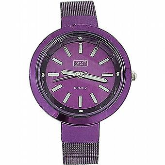 Eton Damen Neon lila Zifferblatt & Mesh Bracelet Armband Fashion Watch 3081L