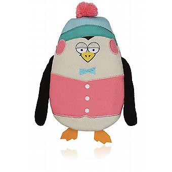 Frosty Friends 1L Knitted Hot Water Bottle: Penguin