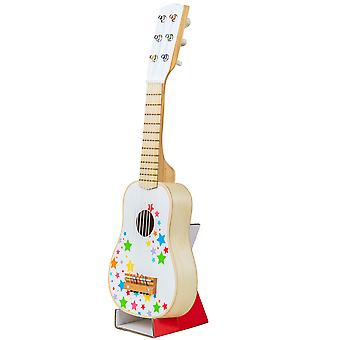 Bigjigs Toys Children's Wooden Guitar - Kid's Musical Instruments