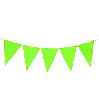 Gardenista® Lime 40ft Water Resistant Fabric Bunting