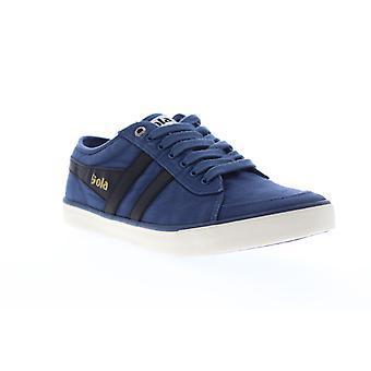 Gola Comet  Mens Blue Canvas Retro Lace Up Low Top Sneakers Shoes