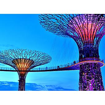Tapet Mural Singapore Bay Supertrees