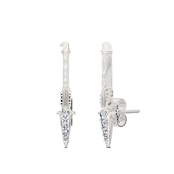 Assassin 's Creed Odyssey Diamond Spear Ear Climbers In Sterling Silver