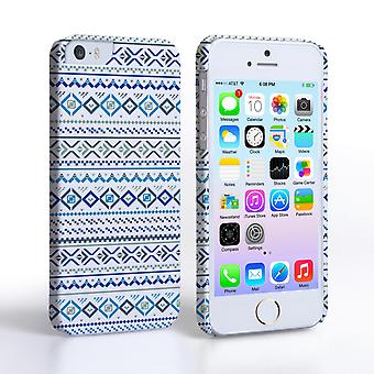 Caseflex iPhone 5and5S Fairisle Case – Blue with White Background