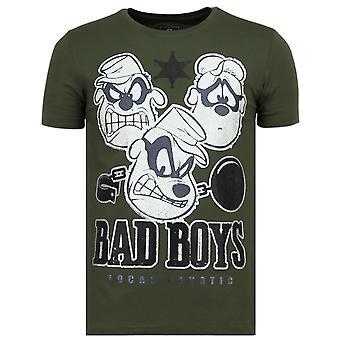 Beagle Boys-Funny T shirt men-6319G-Green