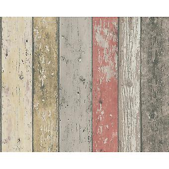 A.S. Creation AS Creation Painted Wood Beam Wooden Panel Faux Effect Textured Wallpaper 895127