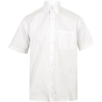 Henbury - Mens Short Sleeve Lightweight Oxford