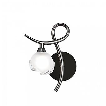 Mantra Fragma Wall Lamp Left Switched 1 Light G9, Black Chrome