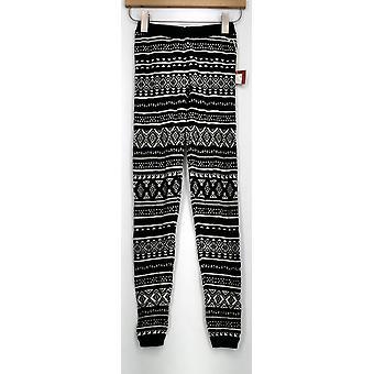 Mossimo Leggings punto cintura elástica impreso pierna delgada negro mujeres