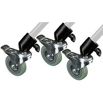 BRESSER BR-W22 3-teiliges Räder-Set für Lampenstative