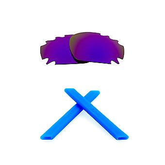 Lenses Kit Compatible with OAKLEY Vented Racing Jacket Polarized Purple & Blue