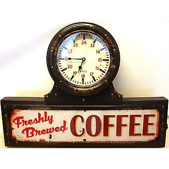 Klocka vägg LED Coffee 63 cm