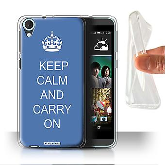 STUFF4 Gel/TPU Case/Cover for HTC Desire 820s Dual/Carry On/Blue/Keep Calm