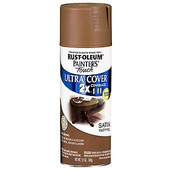 Painter's Touch Ultra Cover Satin Aerosol Paint 12 Ounces Nutmeg Ptucs249 070