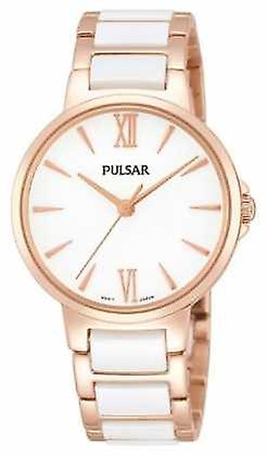 Pulsar Ladies' Rose White Classic Dress PH8078X1 Watch