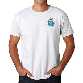 HMS Sceptre Embroidered Logo - Official Royal Navy Ringspun T Shirt