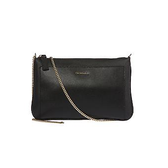 Trussardi woman's handmade handbag, clutch bag with metal chain for transportation out of 100 dollar% calf leather shoulder-25x15x5 Cm