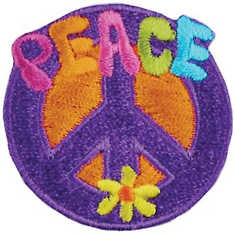 Iron-On Appliques-Peace Sign A001300-247