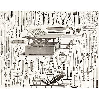 19Th Century Surgical Instruments PosterPrint