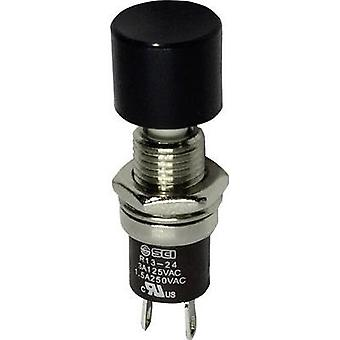 Pushbutton 250 Vac 1.5 A 1 x On/(Off) SCI R13-24B2-05 BK momentary 1 pc(s)