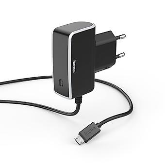 HAMA Charger 220V MicroUSB 1A Black