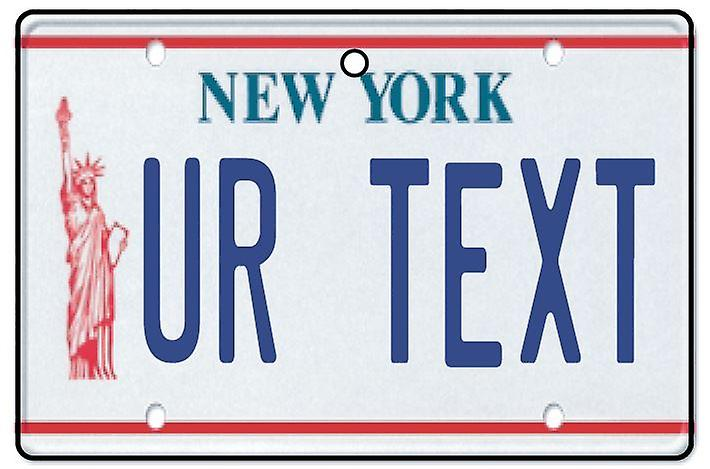 Personalised New York Numberplate Car Air Freshener
