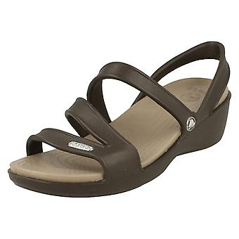 Ladies Crocs Strappy Sandal 'Patricia Wedge Sandal W'