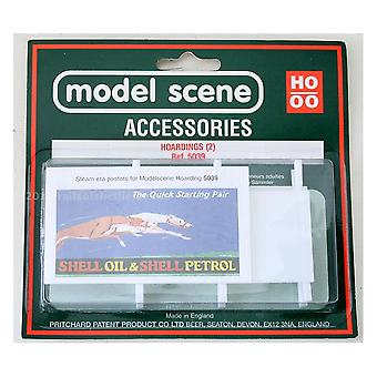 Model Scene Accessories OO/HO Hoardings (2) - Steam Era