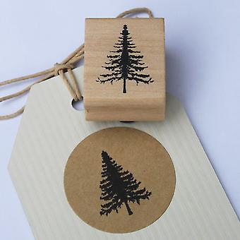 East Of India Christmas Tree Rubber Stamp Realistic Xmas Tree / Craft