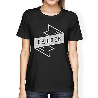 Camper Womens Black Short Sleeve T-Shirt Gift Idea For Hiking Lover