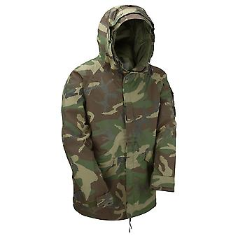 Genuine Reclaimed US Goretex Woodland Camo Jacket