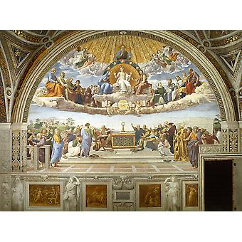 Raphael - Disputation of the Holy Sacrament Poster Print Giclee