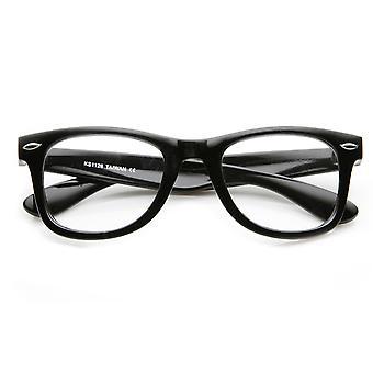 Classic Thick Frame Clear Lens Basic Horn Rimmed Glasses