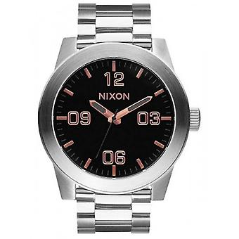 Nixon The Corporal SS Watch - Grey/Rose Gold