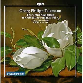 Telemann / La Stagione Frankfurt / Schneider - Telemann: Grand Concertos for Mixed Instruments V4 [CD] USA import