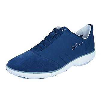 Geox D Nebula G Womens Slip On Trainers / Shoes - Navy