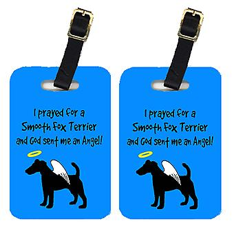 Carolines Treasures  AN1058BT Pair of 2 Fox Terrier Luggage Tags
