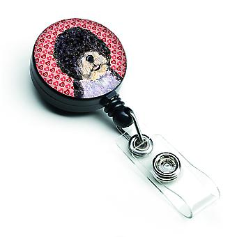 Portuguese Water Dog  Retractable Badge Reel or ID Holder with Clip