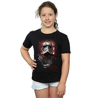 Star Wars Girls The Last Jedi Captain Phasma Brushed T-Shirt