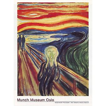 The Scream Poster Print by Edvard Much (23 X 31)